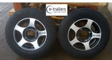 "TRAILER ALLOY WHEELS 5.5"" 140mm with 175 x 13 C 8ply TYRES -BOAT HORSEBOX -IFOR WILLIAMS PLANT"